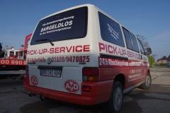 Unser Pick-Up-Van - bei einer Panne bleib keiner zurück