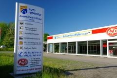 freie Kfz-Werkstatt Rostock Ansicht Außengelände